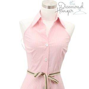 TRINA TURK Designer Dress Size 2 XS Pink White Sun